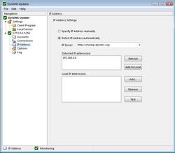 IP address configuration