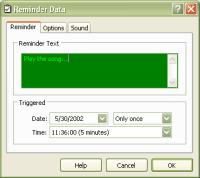 Kana Reminder Add/Edit Window